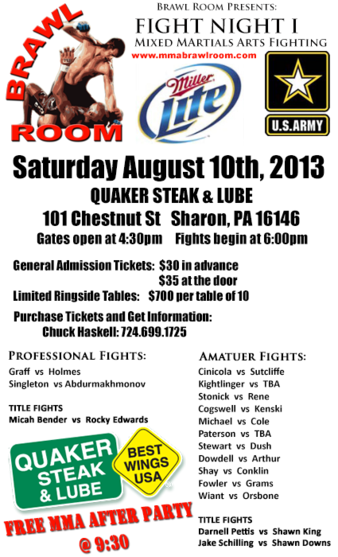Quaker Steak and Lube Fight Night 1
