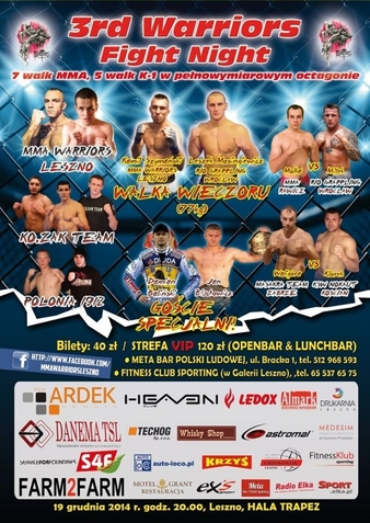 3rd Warriors Fight Night