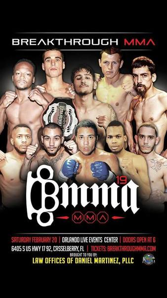 Breakthrough MMA 19