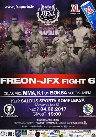 FREON: JFX Fights 6 | MMA & Kickboxing Event | Tapology