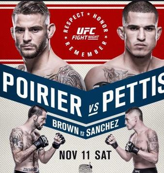 Image result for poirier vs pettis poster