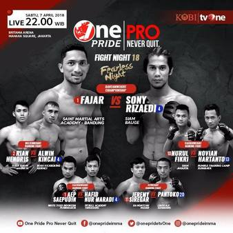One Pride MMA Fight Night 18