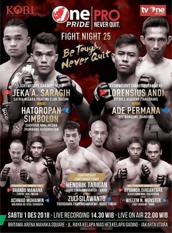 One Pride MMA Fight Night 25