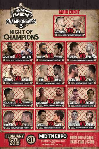 Johnathan Ivey's Cage Fighting Championships 3