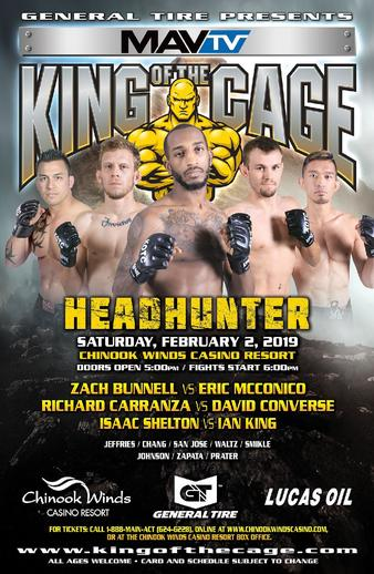 Zach Bunnell vs  Eric McConico, KOTC | MMA Bout | Tapology