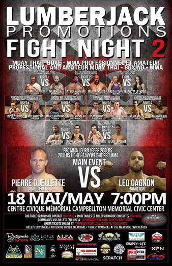 Pierre Ouellette vs  Leo Gagnon, Fight Night 2 | MMA Bout | Tapology