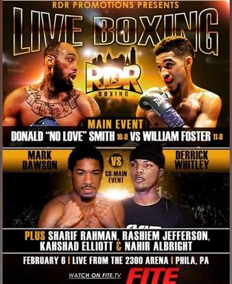 RDR presents Live Boxing