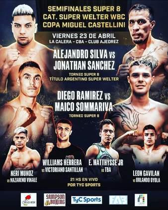 Diego Ramirez vs. Maico Sommariva, Silva vs. Sanchez | Boxing Bout |  Tapology